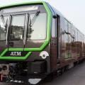 Il Leonardo nero con profili verdi per la M2 di Milano - Foto Atm