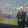 L'Ad e la presidente di FS Italiane Mazzoncini e Ghezzi con il Treno Verde 2016 - Foto Giovanni Giglio