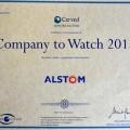Il riconoscimento assegnato ad Alstom