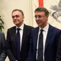 Enrico Rossi, Presidente Regione Toscana, Raffaele Cantone, Presidente ANAC, Maurizio Gentile, Amministratore Delegato di RFI - Foto FS Italiane
