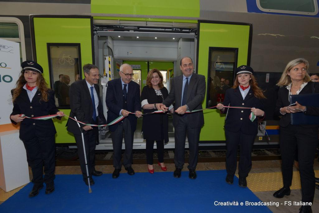 Zingaretti, Morgante e Civita inaugurano a Formia il nuovo Vivalto - Foto FS Italiane