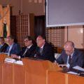 Conferenza stampa per l'acquisizione di Siremar da parte di SNS. Nella foto il Presidente Repaci, e gli AD Morace e Genghi - Foto SNS