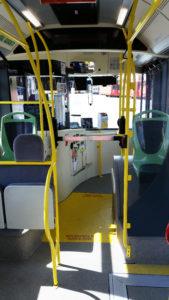 I tornelli a bordo dei bus della linea 15 di Parma - Foto TEP