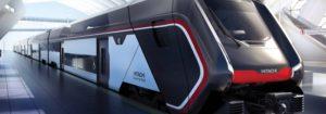 Caravaggio, il nuovo treno a due piani di Hitachi Rail Italy - Disegno HRI