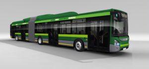 Disegno dei bus Iveco Urbanway Hybrid per ATM Milano - Foto ATM