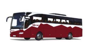 Bus extraurbano nella livrea Trentino - Foto PAT