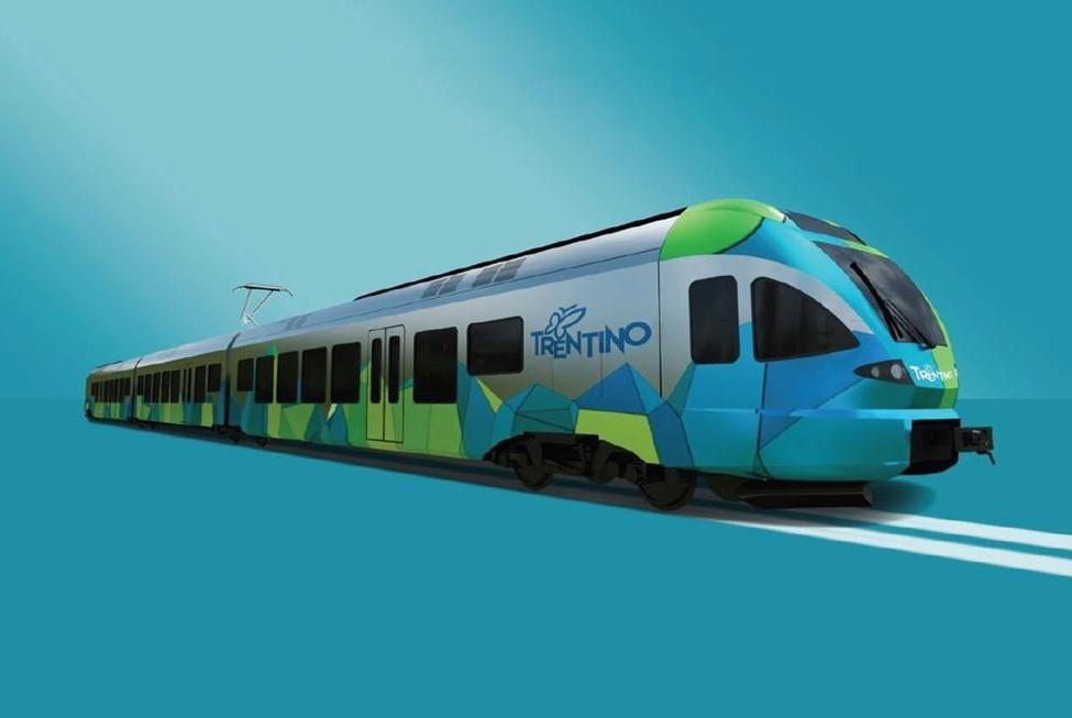 Treno Flirt nella livrea Trentino - Foto PAT