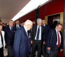 La prima volta di Napolitano con Italo