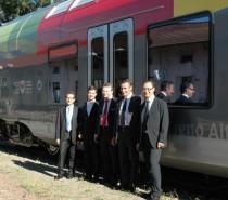 Arrivati a Bolzano i primi nuovi treni Flirt, in servizio da dicembre 2013 anche per servizi transfrontalieri