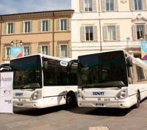 La flotta di Start Romagna a Ravenna si rinnova, presentati 11 bus a metano