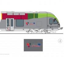 Sui treni locali di Trentino, Alto Adige e Tirolo il logo dell'Euregio