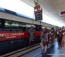 Gli antichi romani conquistano Expo 2015 a bordo di un FrecciaRossa
