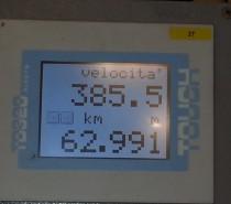 Frecciarossa 1000 record a 385 km/h