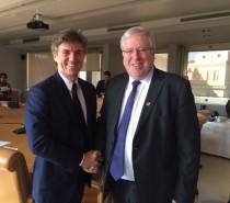 Cattaneo presenta NTV al ministro dei trasporti inglesi