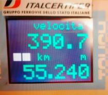 Frecciarossa 1000 sempre più veloce, raggiunti i 390km/h