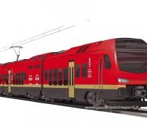 Rosso, nero ed oro i colori dei treni bimodali della Valle d'Aosta