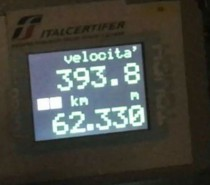 Il Frecciarossa1000 raggiunge velocità record di 394km/h