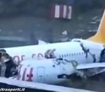 Istanbul, Boeing 737-800 esce di pista e si schianta: 3 morti e 157 feriti