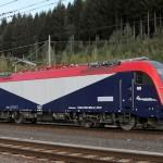 Una Moderna locomotiva politensione E190 delle Fuc per i convogli transfrontalieri - Foto Marco Sebastiani