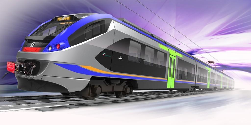 Rendering del nuovo elettrotreno Alstom per Trenitalia