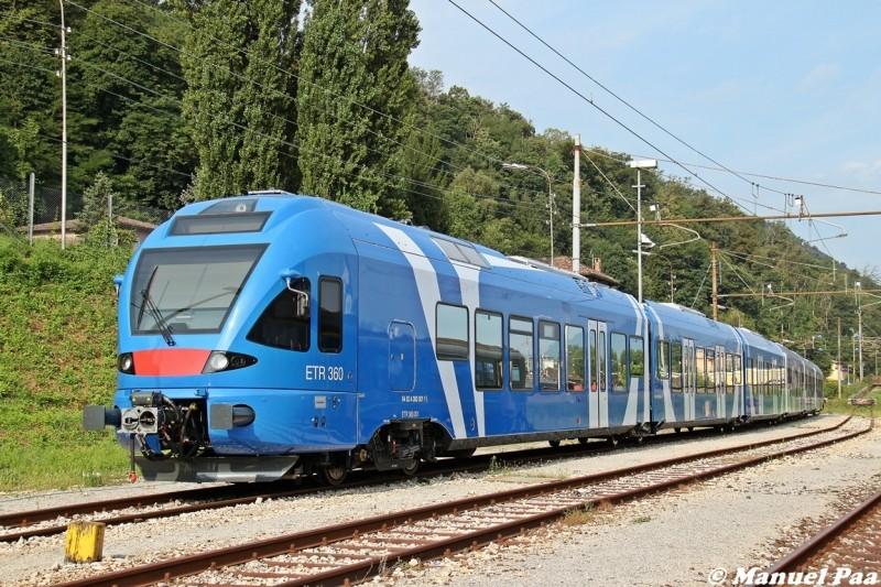 I nuovi convogli Stadler ETR360 di Sistemi Territoriali - Foto Manuel Paa