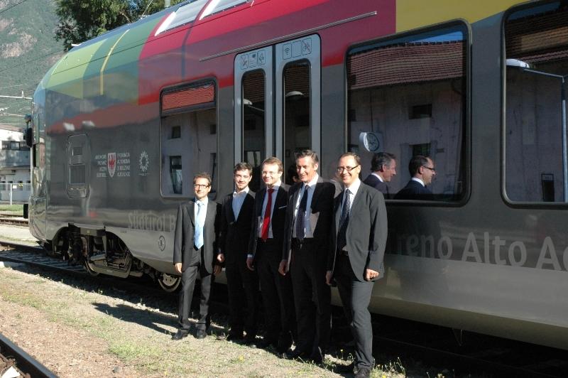 I nuovi treni Flirt presentati a Bolzano - Foto Provincia Bolzano