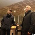 L'assessore comunale ai Trasporti Pier Francesco Maran e il presidente di Atm Bruno Rota visitano la nuova fermata Garibaldi della M5 - Foto Manuel Paa