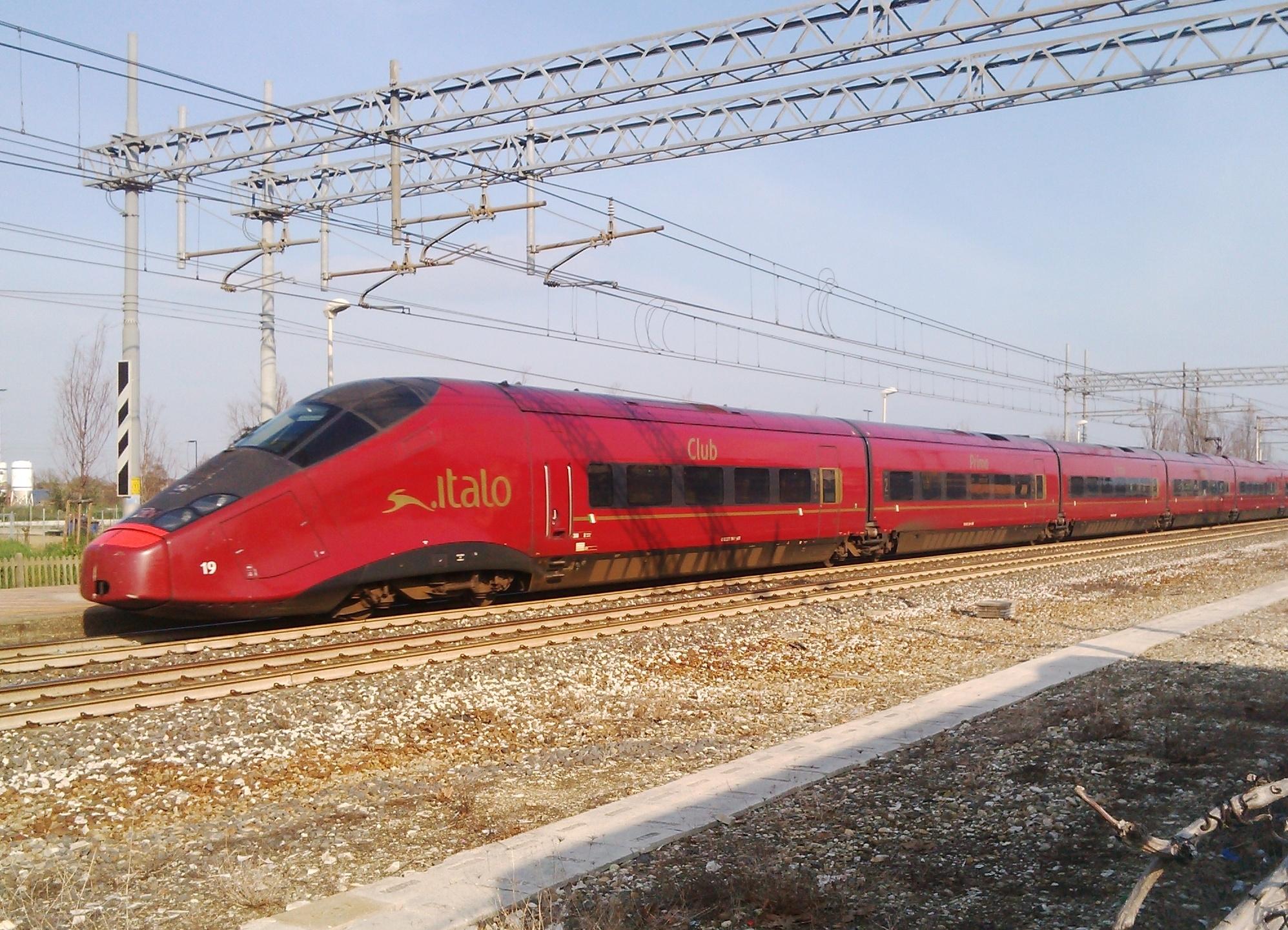 Il treno Italo di Ntv - Foto Giovanni Giglio