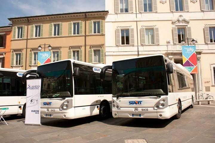 I nuovi bus Iveco Citelis a metano di Start Romagna a Ravenna - Foto Start Romagna