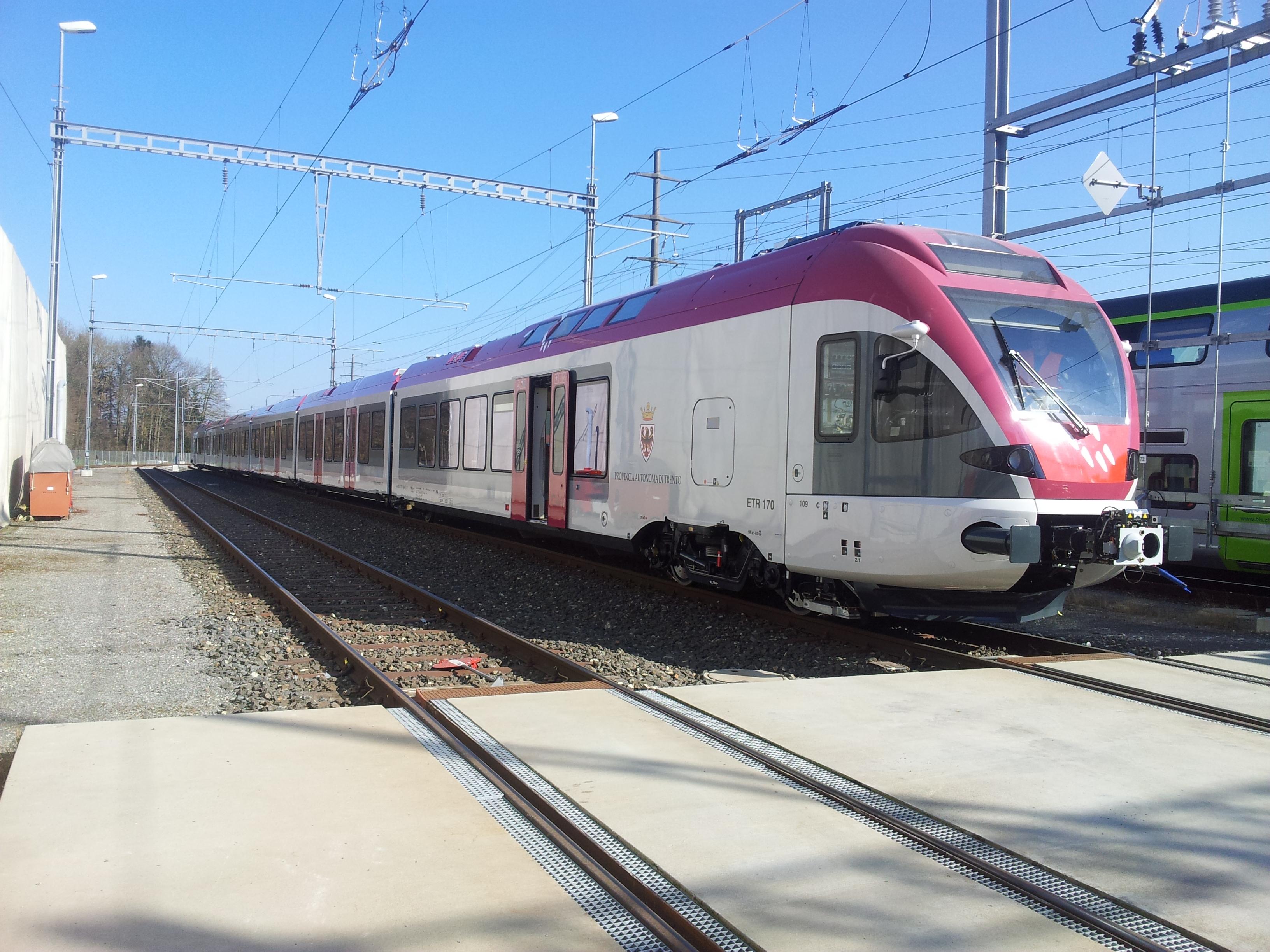 Il nuovo Flirt di Trentino Trasporti - Foto Stadler/TTspa