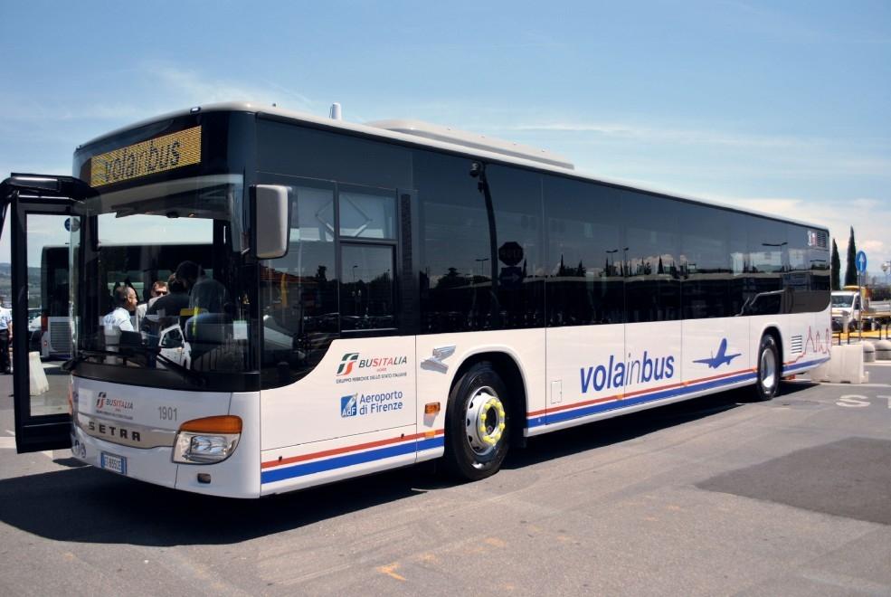 Il nuovo Setra di Busitalia per il servizio Volainbus di Firenze - Foto Gruppo FSI