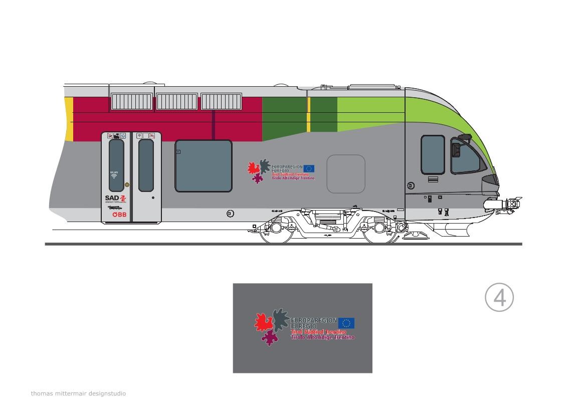 Il logo Euregio che caratterizzerà i servizi transfrontalieri Italia-Austria