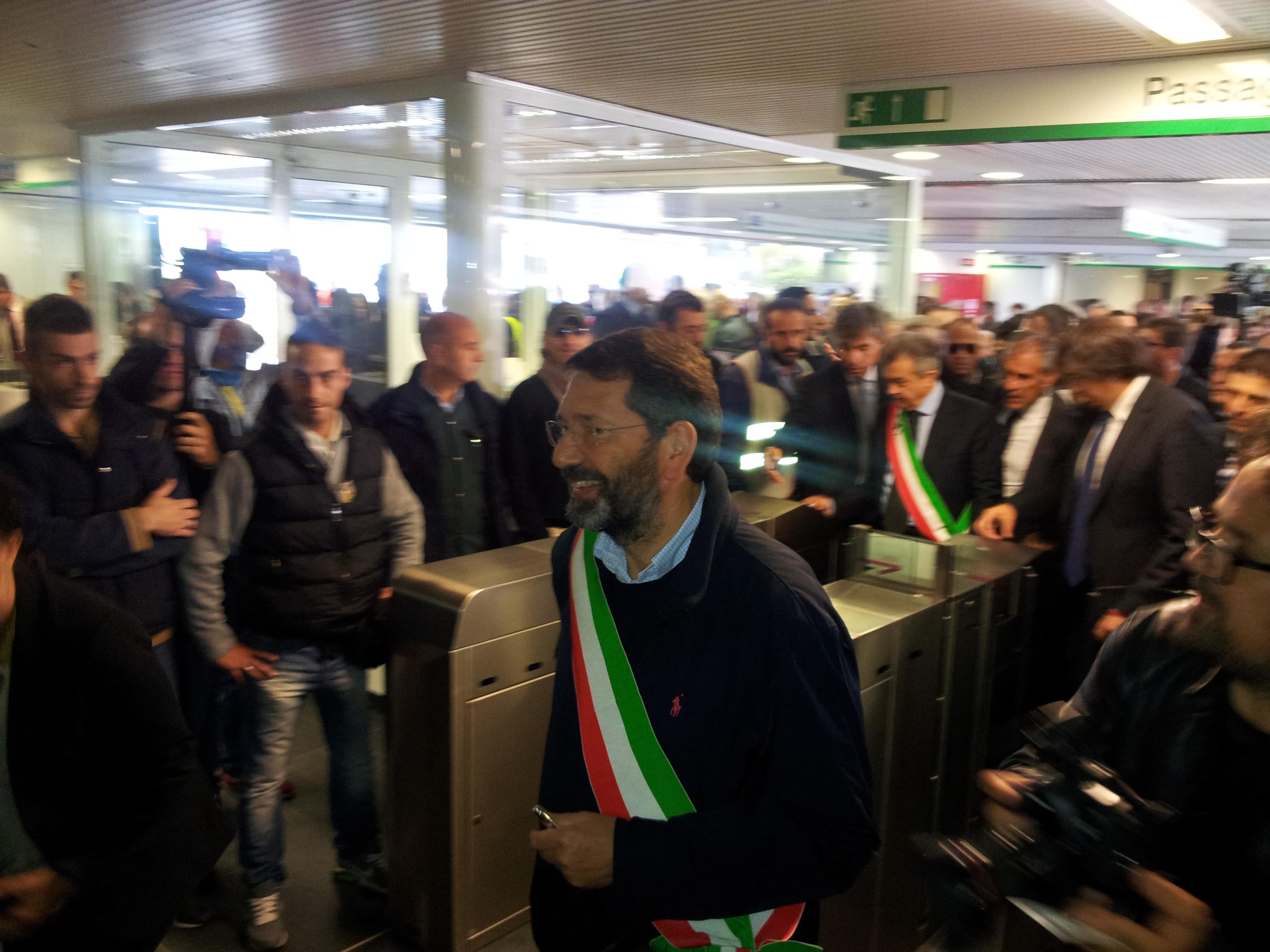 Il sindaco di Roma Capitale Ignazio Marino inaugura la linea C, terza linea metropolitana della Capitale - Foto Omar Cugini