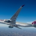 L'Airbus A350 di QatarAirways - Foto Qatar Airways