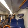 Interno del nuovo Atr220 di Trenitalia - Foto Giuseppe Mondelli