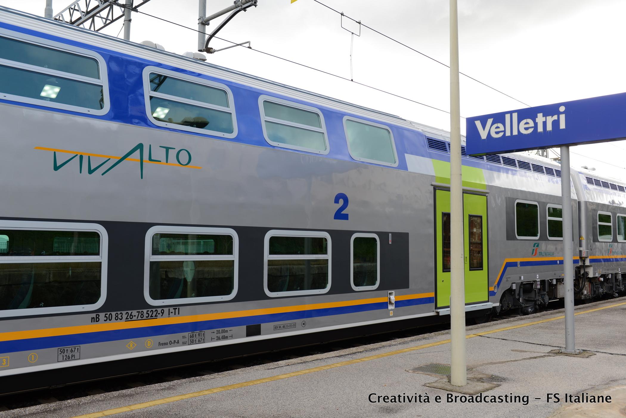 Il nuovo treno Vivalto per la regione Lazio - Foto Gruppo Ferrovie dello Stato Italiane