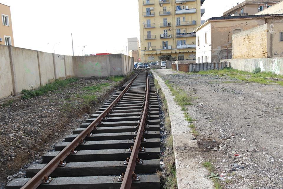 I nuovi binari per la fermata di Porto Empedocle Succursale - Foto Fondazione FS