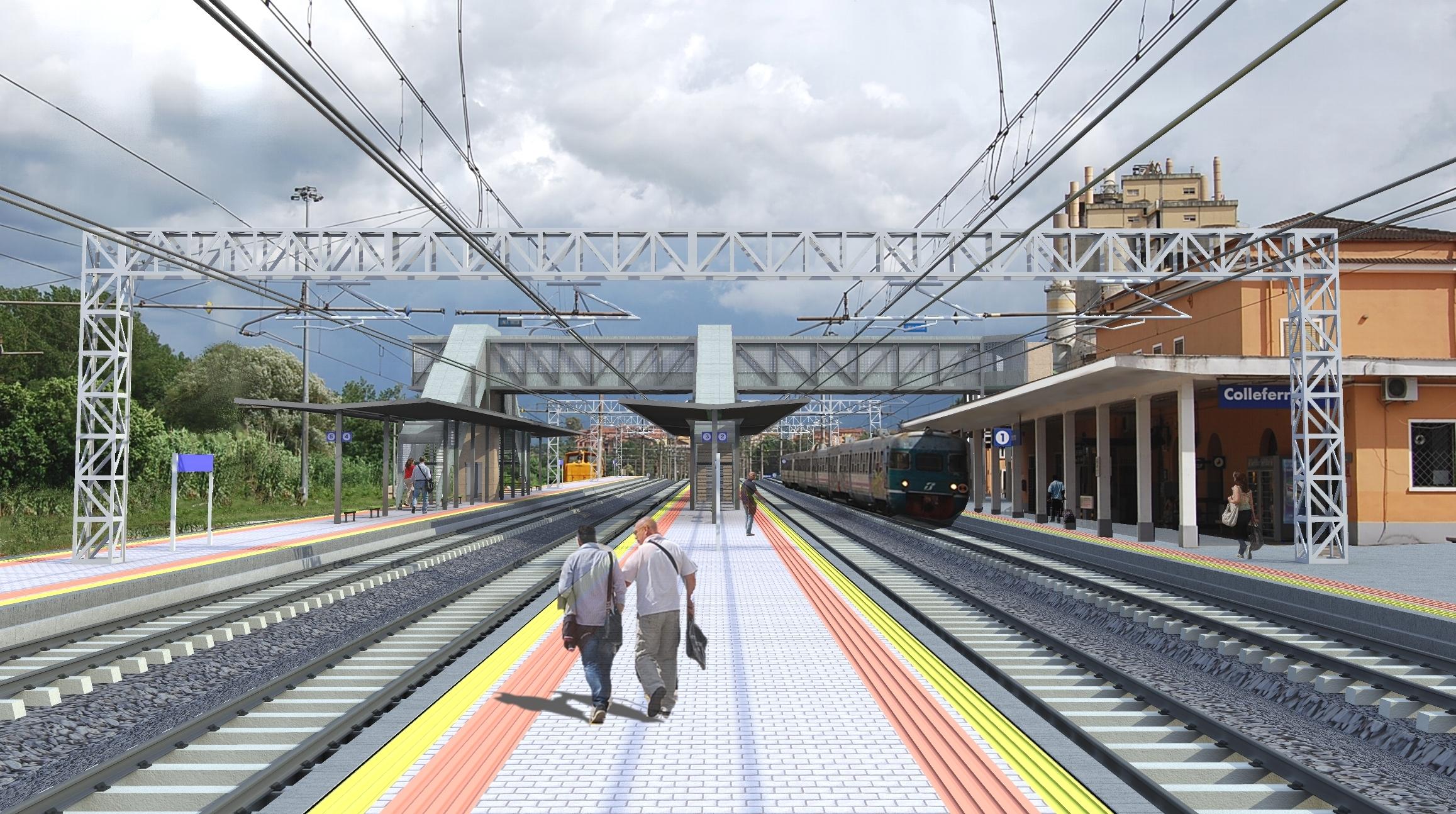 Rendering dei lavori a Colleferro - Foto Gruppo Ferrovie dello Stato Italiane