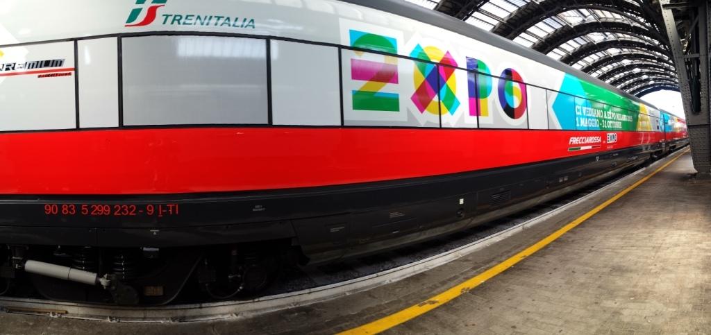 FrecciaRossa in livrea Expo a Milano Centrale - Foto Matteo Noli