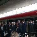 Il Presidente della Repubblica Sergio Mattarella appena sceso dal Frecciarossa 1000 - Foto Francesco Pizzuti