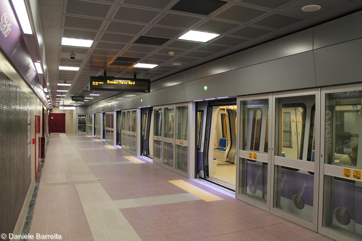 La stazione di San Siro Stadio della linea M5 lilla - Foto Daniele Barrella
