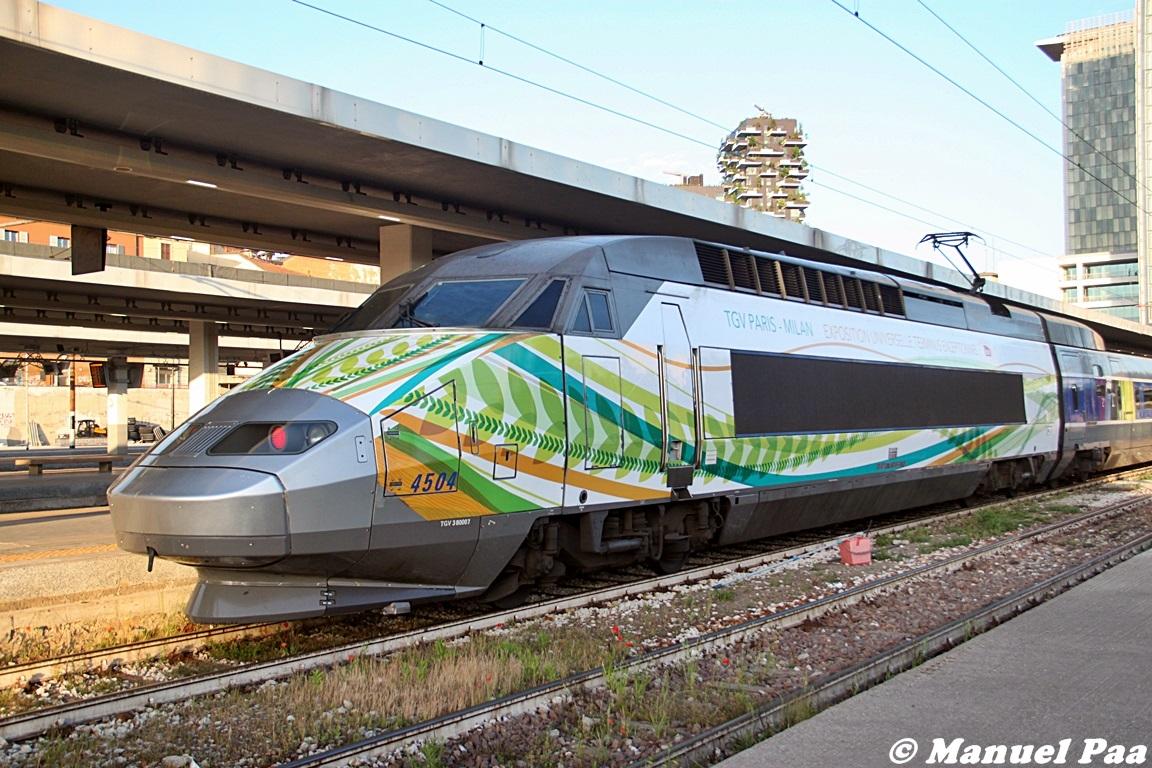 Il TGV Francia-Italia nella livrea realizzata per Expo 2015 - Foto Manuel Paa