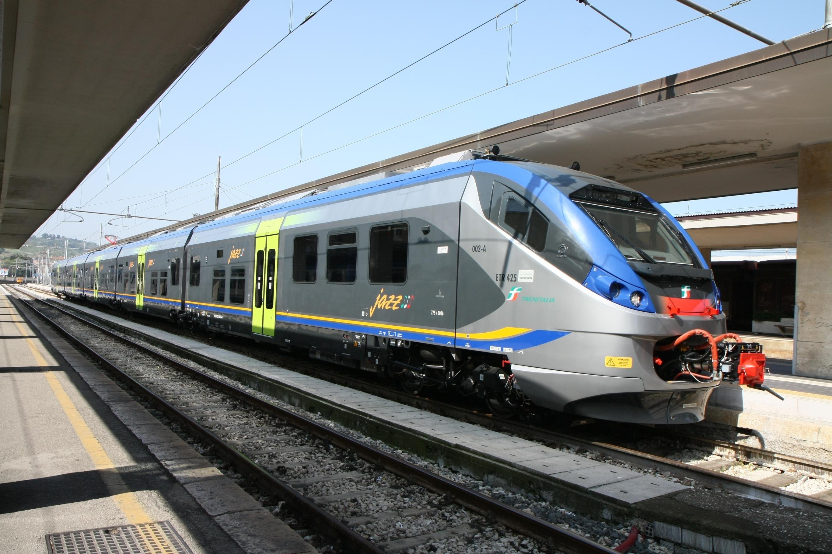 L'Etr425 Jazz realizzato da Alstom per Trenitalia Foto Alstom/Bartolomei Paolo