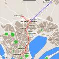 """La mappa di MetroCagliari con la nuova linea tram-treno tra San Gottardo e Settimo San Pietro da Wikipedia """"Cagliari mappa metro"""" di Roberto Mura – licenza CC BY-SA 4.0 tramite Wikimedia Commons"""