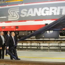 Un momento della presentazione del nuovo locomotore E483 Sangritana - Foto Sangritana