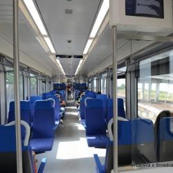 Interni dell'Etr563 Caf Civity - Foto Gruppo Ferrovie dello Stato Italiane