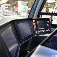 Cabina di guida di un tram Flexity Bombardier all'UITP 2015 Milano - Foto Manuel Paa
