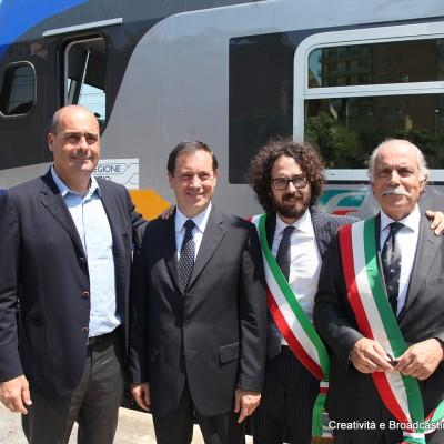 Zingaretti, Soprano e i sindaci di Cerveteri e Ladispoli - Foto Gruppo Fs Italiane