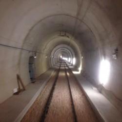 Interno della nuova galleria di Monte Tratturale - Foto Ferrovie del Gargano