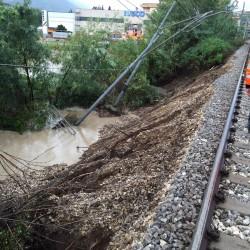 Danni causati dal maltempo alla ferrovia Caserta-Benevento - Foto Gruppo FS Italiane